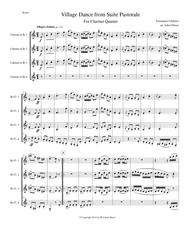 Chabrier - Village Dance for clarinet quartet