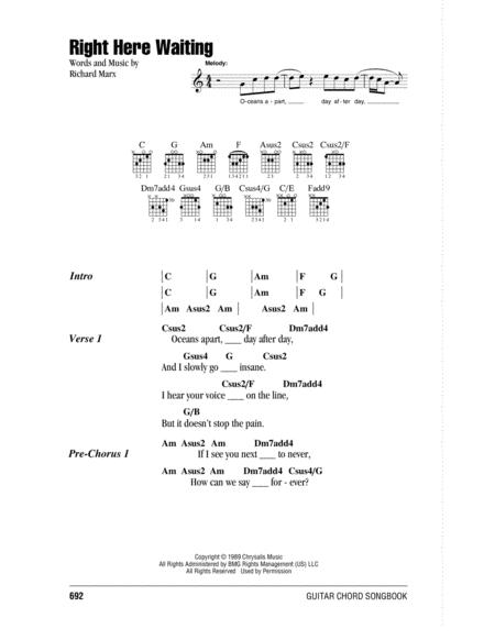 Download Right Here Waiting Sheet Music By Richard Marx Sheet