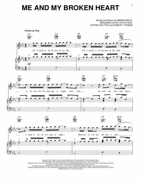 Download me and my broken heart sheet music by rixton sheet music plus preview me and my broken heart ccuart Image collections