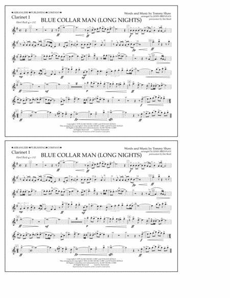 Blue Collar Man (Long Nights) - Clarinet 1