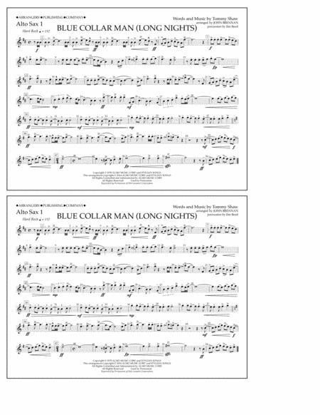 Blue Collar Man (Long Nights) - Alto Sax 1
