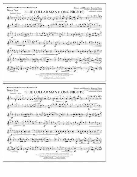 Blue Collar Man (Long Nights) - Tenor Sax