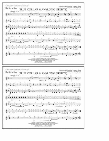 Blue Collar Man (Long Nights) - Baritone Sax