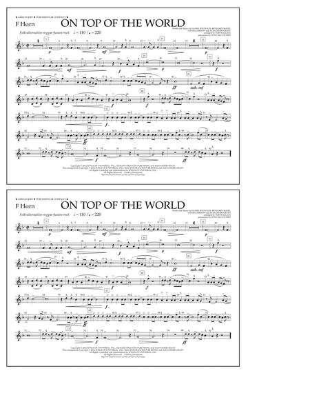 On Top of the World - F Horn