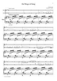 Mendelssohn  On Wings of Song, for piano trio, PM102