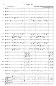 Klezmer Concerto for Clarinet and Wind Orchestra (complete score)