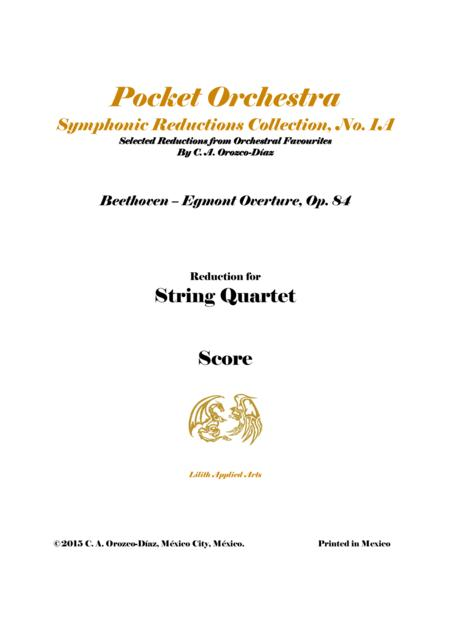Beethoven - Egmont Overture, Op. 84 - String Quartet Arrangement - Score