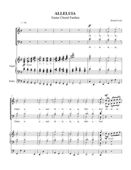 Alleluia Easter Choral Fanfare ORGAN VOCAL