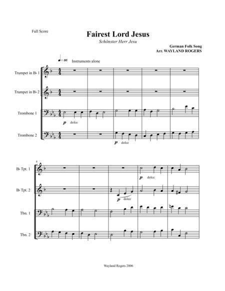 Fairest Lord Jesus (score and parts)