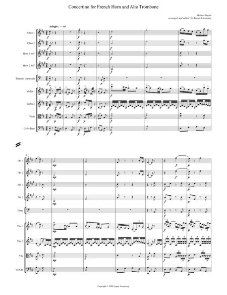 Concertino for Horn in D and Alto Trombone