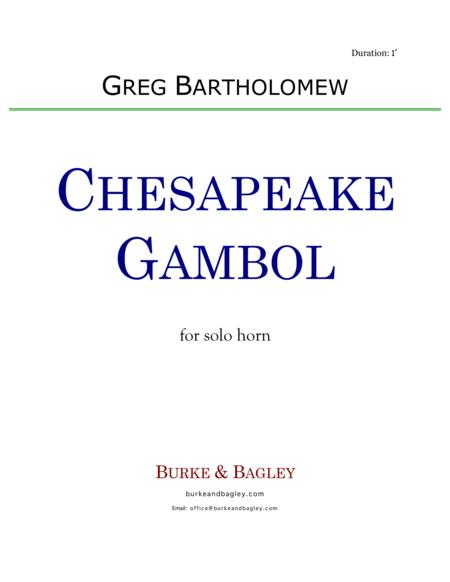 Chesapeake Gambol for solo horn in F