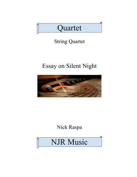 Essay on Silent Night - String Quartet full set