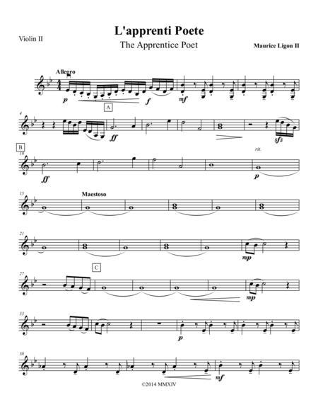 L'apprenti Poete - Violin 2