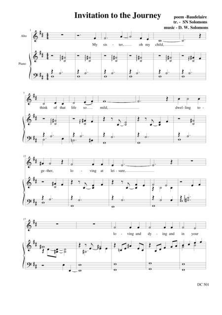 Invitation to the journey (Alto and Piano)