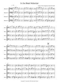 In the Bleak Midwinter for Bassoon Quartet