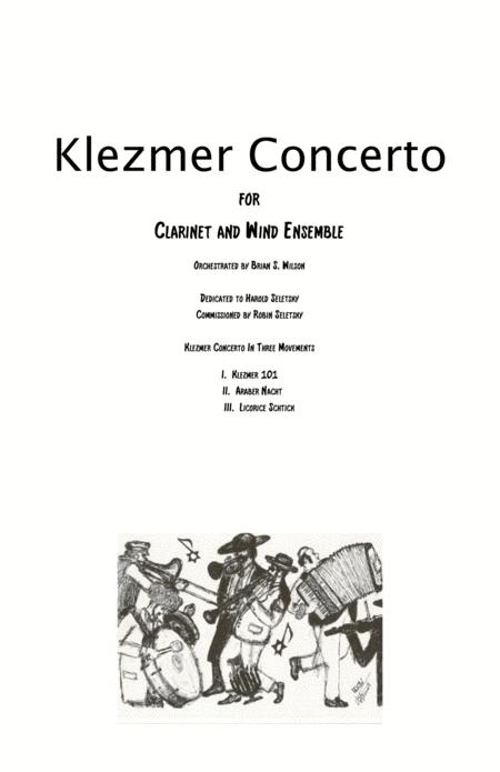 Klezmer Concerto for Clarinet and Wind Orchestra  (parts - saxes, trumpets and horns)