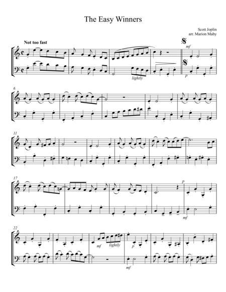 The Easy Winners by Scott Joplin, arr. for vln. & cello duet