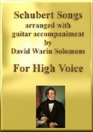Schubert songs arranged for high voice and classical guitar