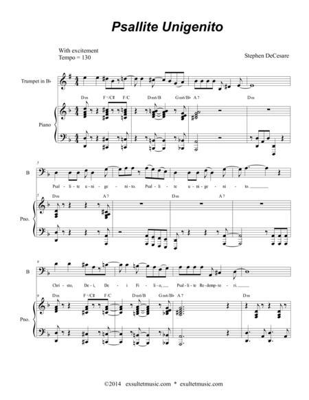 Psallite Unigenito (Canon)