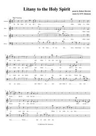 Litany to the Holy Spirit for choir - SATB (with splits)