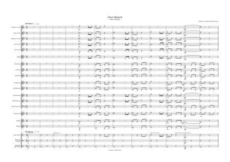 Men of Harlech (Gwyr Harlech). Brass band arrangement.