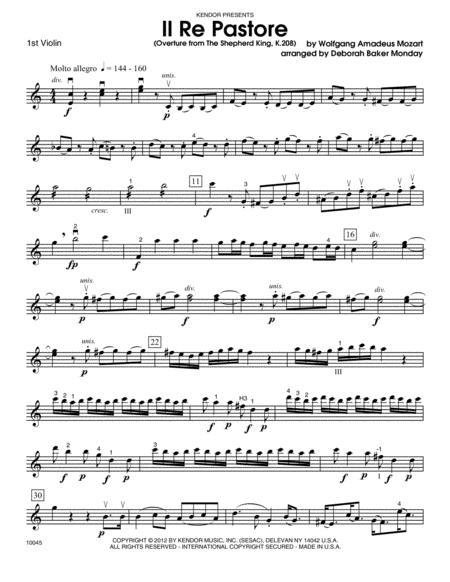 Il Re Pastore (Overture from The Shepherd King, K. 208) - Violin 1