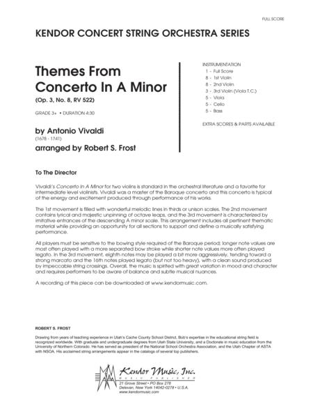 Themes From Concerto In A Minor (Op. 3, No. 8, RV 522) - Full Score