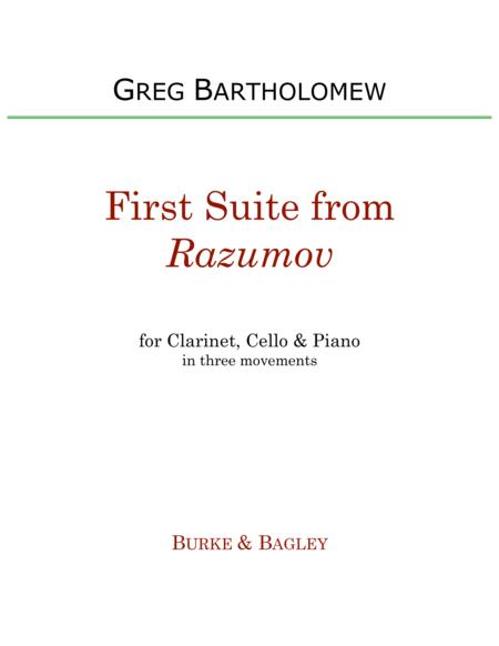 First Suite from Razumov for clarinet trio