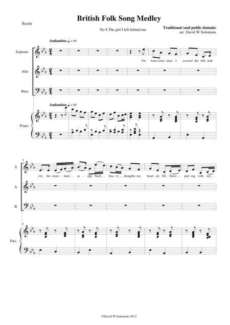 Download The Girl I Left Behind Me For Sab Choir And Piano Sheet