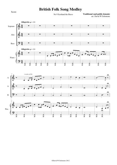 Download Scotland The Brave For SAB Choir And Piano Sheet