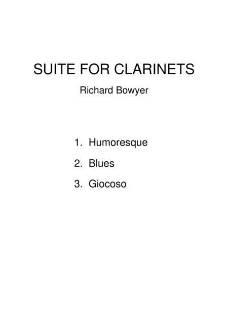Suite for Clarinets
