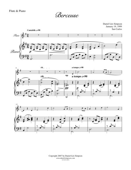 Berceuse for Flute & Piano