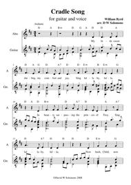 Byrd's Cradle song for alto and guitar (including guitar chord names)