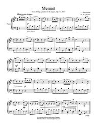 Famous Menuet / Minuet for easy piano solo