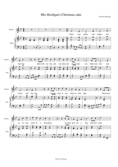 Mrs Hooligan's Christmas cake (B flat major version)