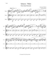 Chabrier - flute trio - Scherzo from Suite Pastorale