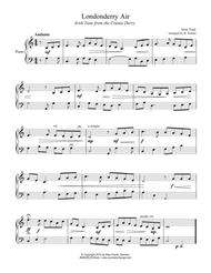 Londonderry Air for easy piano solo