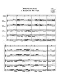 Erbarm dich mein, o Herre Gott, BWV 721 (arrangement for 5 recorders)