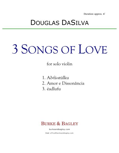Three Songs of Love for solo violin