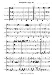 Hungarian Dance No.5 for Cello Quartet