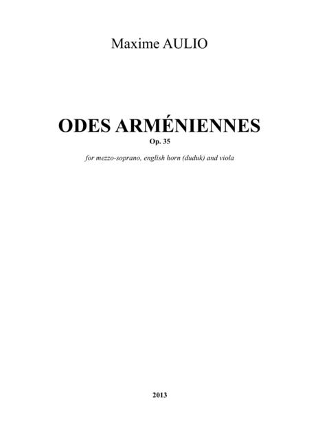 Odes Armeniennes (Armenian Odes), for duduk/english horn, voice, and viola