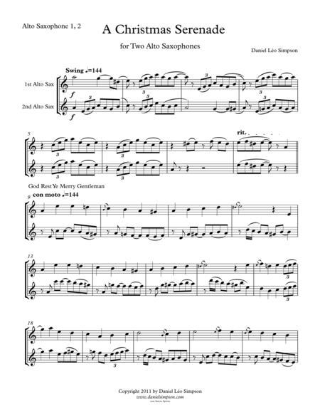 Christmas Serenade for two Alto Saxophones