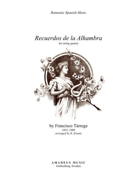 Recuerdos de la Alhambra for string quartet