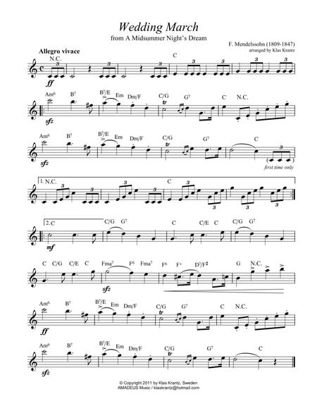 Wedding Music - lead sheet with guitar chords