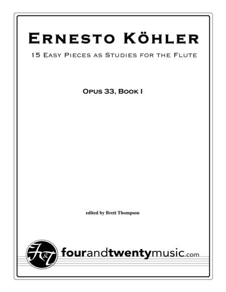 15 Easy Pieces as Studies, opus 33, Book 1