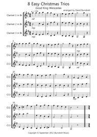 8 Easy Christmas Trios for Clarinet