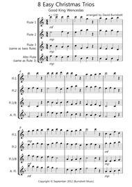 8 Easy Christmas Trios for Flute