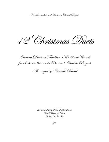 12 Christmas Duets for Clarinets