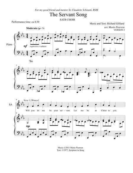 The Servant Song SATB Piano (version 2)