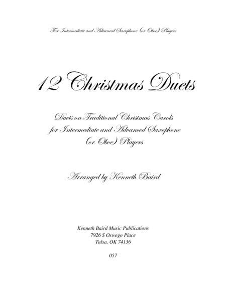 12 Christmas Duets for Saxophones (or Oboes)